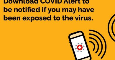 Potential COVID-19 exposure notification from alert app